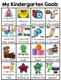 Kindergarten Goals (Kindergarten Common Core I Can Stateme