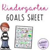 Kindergarten Goals Sheet