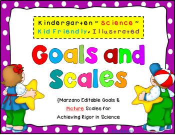Kindergarten Goals and Scales Bundle {EDITABLE}