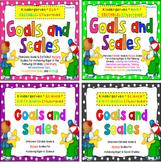 Kindergarten Goals and Scales Bundle {EDITABLE} - NOT Flor