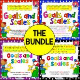 Kindergarten Goals and Scales Bundle {PDF and EDITABLE} -