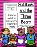 Kindergarten Goldilocks and Three Bears Resource Packet- S