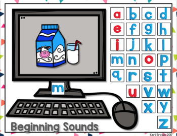 Kindergarten Google Classroom - Beginning Sounds Find it
