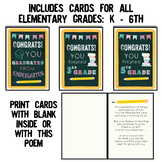 End of Year, Graduation Cards for All Elementary Grades: Kindergarten - 6th
