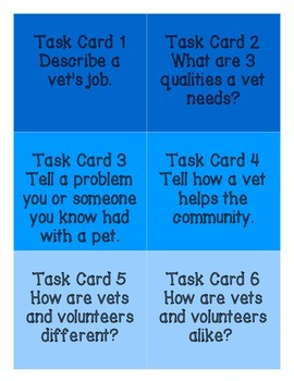 Primary Community Helpers Vets and Pets Literacy Unit