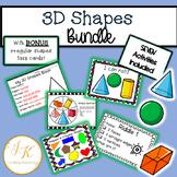 Kindergarten/Grade 1 Geometry: 3D Shapes Unit-Task Cards, Math Centers, Games!