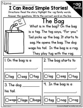 Kindergarten Grade Home Learning Packet #2 NO PREP Distance Learning