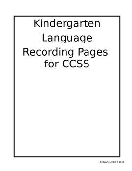 Kindergarten Grade Pages LA Editable