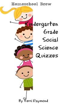 Kindergarten Grade Social Science Quizzes