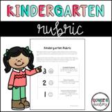 Kindergarten Grading Rubric