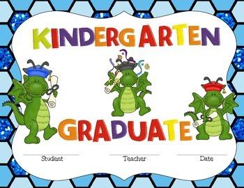 Kindergarten Graduate Certificate- Dragon Fun