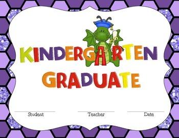 Kindergarten Graduate Certificate- Dragon Theme