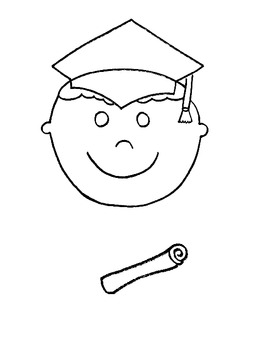 Kindergarten Graduate Paper Bag Puppet