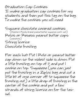 Kindergarten Graduate Tag & cookie idea