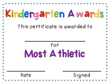 Kindergarten Graduates - End of the Year Awards