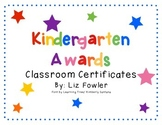 Kindergarten Graduates - End of the Year Awards