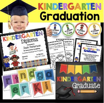 Kindergarten Grad Banner Kindergarten Graduation Banner Graduation Banner Kindergarten Banner