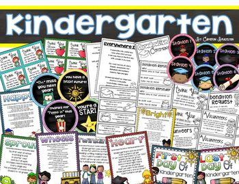 Kindergarten Graduation Celebration End of the Year Bundle (Poems, Gift Tags)
