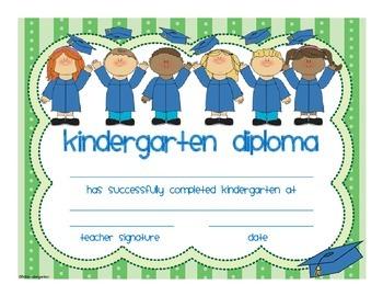 Kindergarten Graduation Certificate