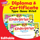 Kindergarten Graduation Certificate Diploma | Print & Digital