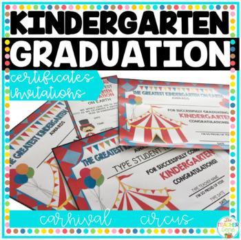 Kindergarten Graduation Certificates {Carnival / Circus ...