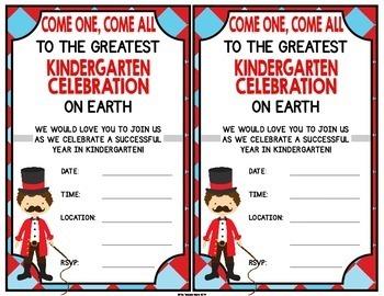 Kindergarten Graduation Certificates {Carnival / Circus}