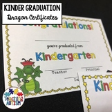 Kindergarten Graduation Certificates Dragons Editable