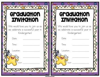 Kindergarten Graduation Certificates & Invitations (Editable) with Gift Tags