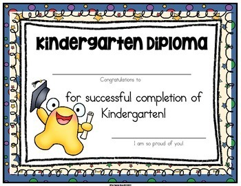 Kindergarten Graduation Certificates & Invitations (Editable) with Gift Tags