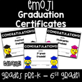 Emoji End of Year Graduation Certificates  for Grades PreK