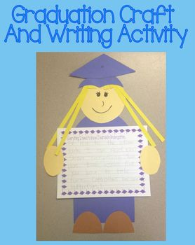 Kindergarten Graduation Craft and Writing Activity