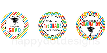Kindergarten Graduation Cupcake Toppers