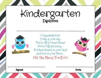 kindergarten graduation diploma by christine cody tpt