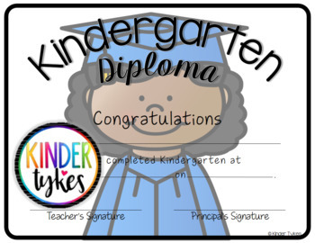 Kindergarten Graduation Diploma Set