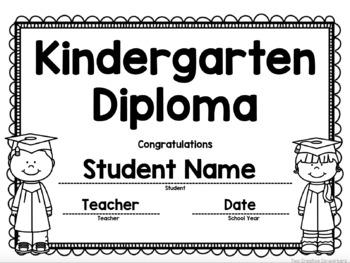 kindergarten graduation diploma certificate invitation worksheets