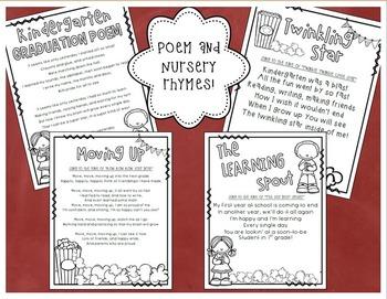 Kindergarten Graduation Diploma, Invitation, Poem, Nursery Rhymes