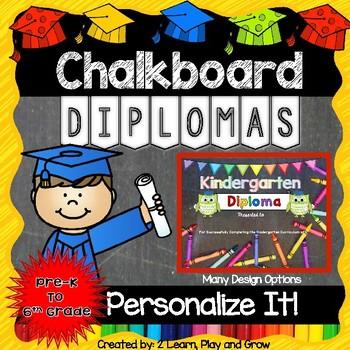 Diplomas or Certificates for Graduation Preschool - 6th Grade