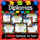 Kindergarten Graduation Diplomas, Programs, Invitations, Songs & More - EDITABLE