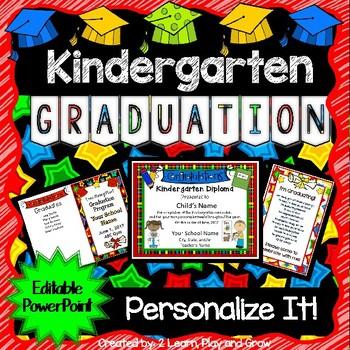 Kindergarten Graduation Diplomas Programs Invitations Songs