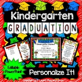 Kindergarten Graduation Diplomas, Programs, Invitations, Songs - EDITABLE PPoint