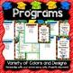 Kindergarten Graduation Diplomas, Programs, Invitations, Songs - EDITABLE PPoint