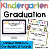 Kindergarten Graduation Diplomas, Awards & Google Slides