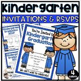 Kindergarten Graduation Editable Invitation and RSVP Cards