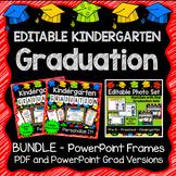 Kindergarten Graduation Editable Photo Frame Bundle