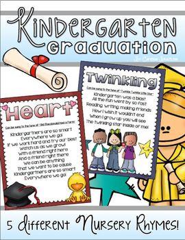 Kindergarten Graduation End of the Year Poems Nursery Rhymes Songs