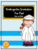Kindergarten Graduation- Fun Pack in Black and White-(Clip Art Available)