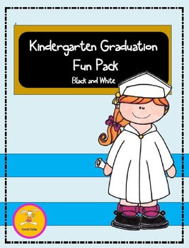 Kindergarten Graduation- Fun Pack in Black and White-(Clip