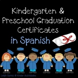Kindergarten & Preschool Graduation Certificates in Spanish