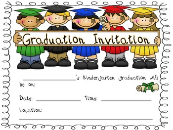This is a graphic of Zany Preschool Graduation Invitations Free Printable