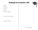 Kindergarten Graduation Mat